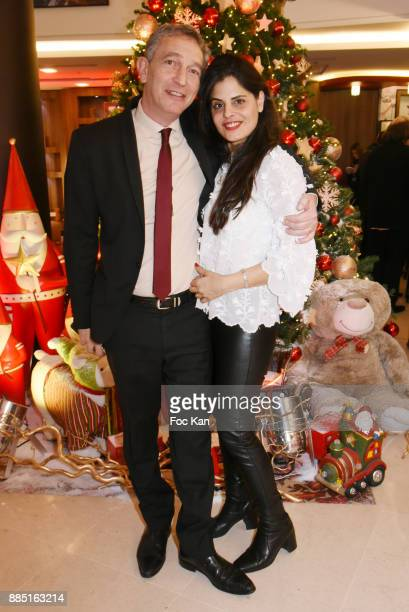 Painter Lee Michel and her husband Olivier Michel attend the launch of Nelson Montfort's new book 'Sport' at Hotel Courtyard Mariott on December 3...