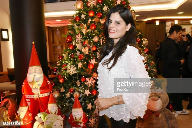 Painter Lee Michel attends the launch of Nelson Montfort's new book 'Sport' at Hotel Courtyard Mariott on December 3 2017 in Paris France