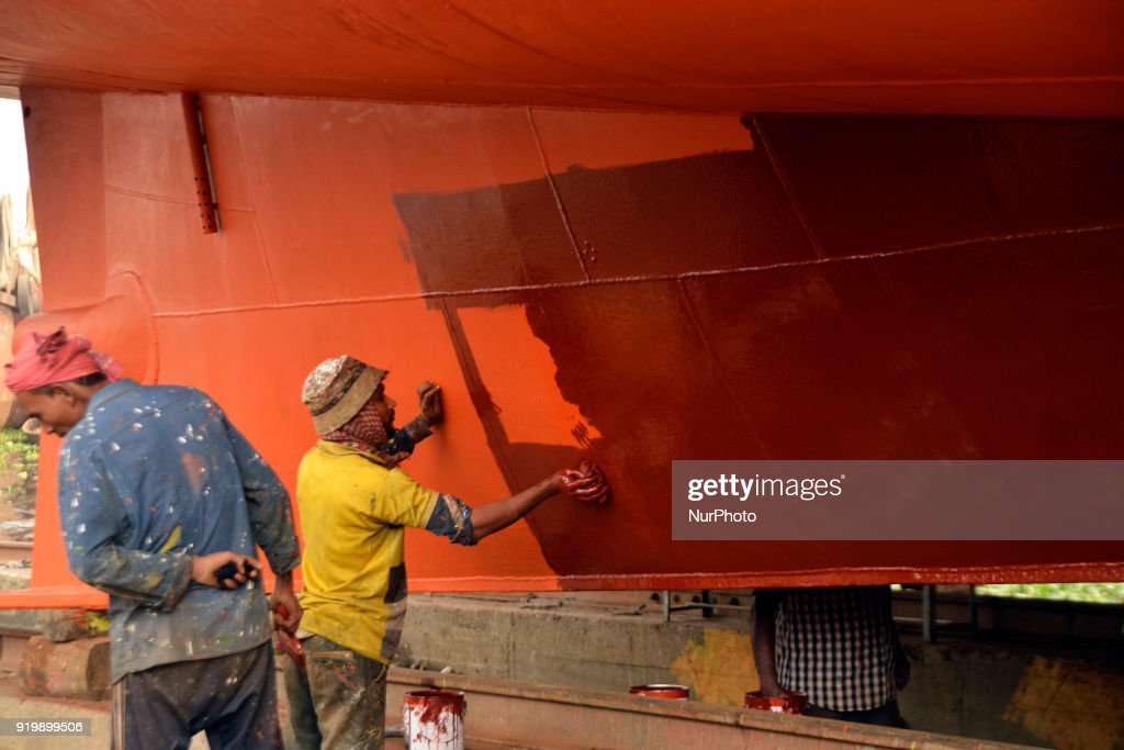 Inside Shipyard in Bangladesh
