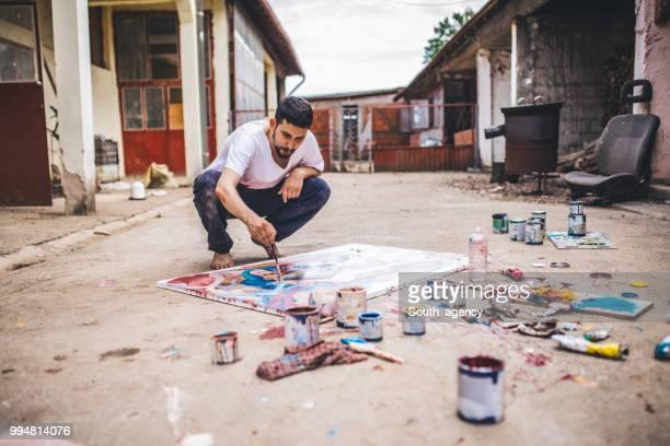 maler malen im freien - künstleratelier stock-fotos und bilder
