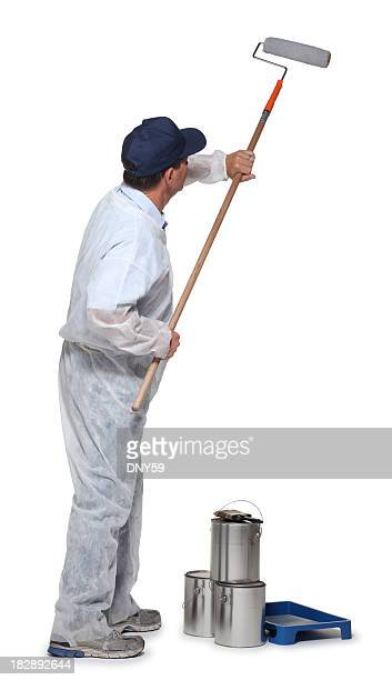 painter - paint roller stock pictures, royalty-free photos & images