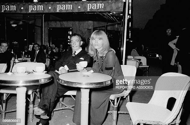Painter Salvador Dali And Amanda Lear In Paris France circa 1960