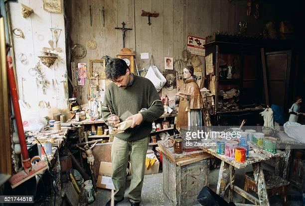 Painter Working in His Workshop