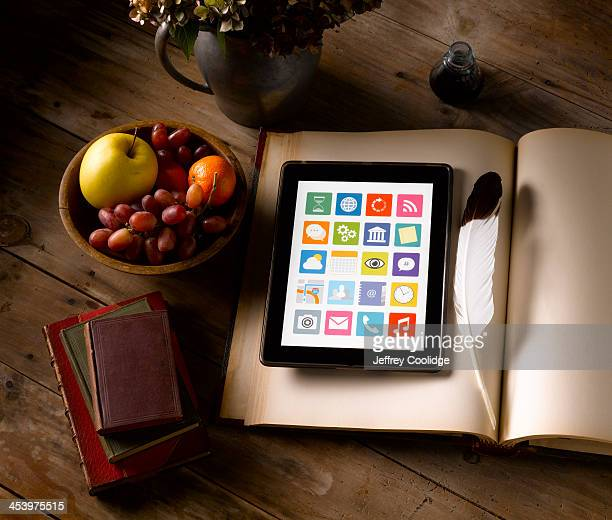 Painterly Still Life Tablet Ledger