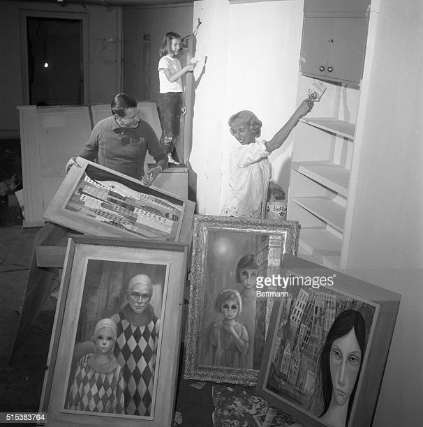 Painters all, San Francisco artist Walter Keane, his wife Margaret and daughter, Jane pool their talents to creat their own art gallery in New York....