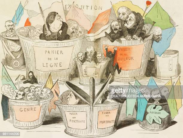 Painters at the Universal Exhibition in Paris in 1855 Horace Vernet Bellanger Beauce Ingres Flandrin Lehmann Amaury Dival Galimard Cornelius Kaulback...