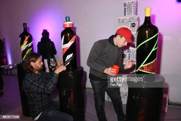 Painters Lek and Sowat attend Nektart Wine Party at Palais de Tokyo Art Club on November 29 2017 in Paris France