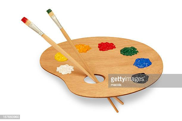 painter's palette - artist's palette stock photos and pictures