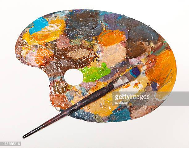 painter's palette - syolacan stock pictures, royalty-free photos & images