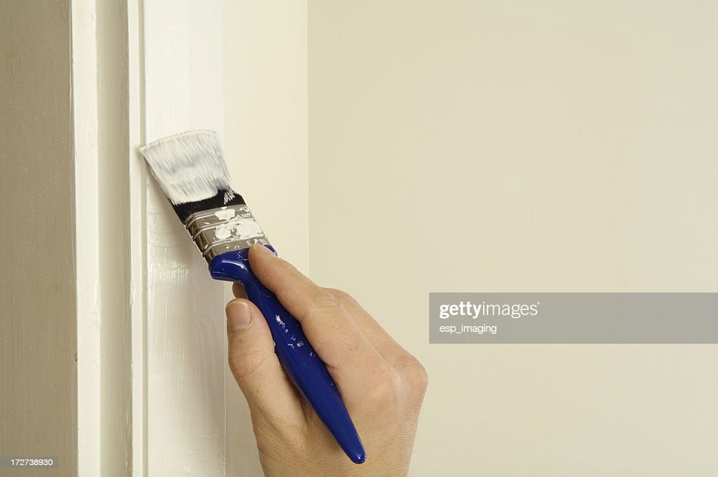 Painting A Door Frame Stock Photo   Getty Images