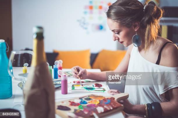 Malen und entspannen
