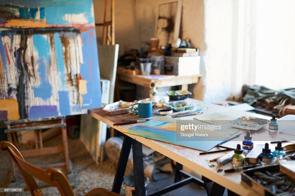 Painting Artist Studio Work Space.