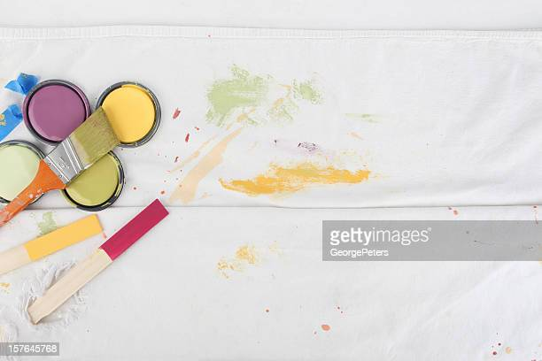 Painting Background with Paint Can Lids