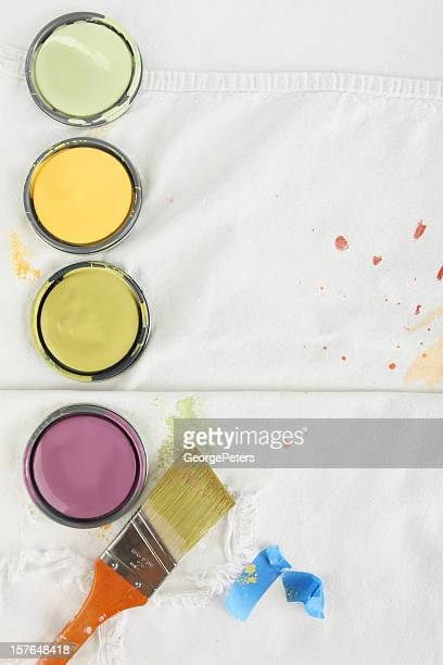 painting background with paint splattered drop cloth - lid stock photos and pictures