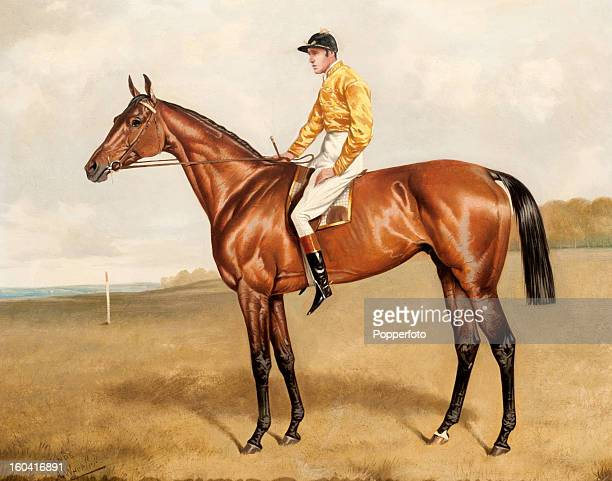A painting by Alfred Wheeler of Ormonde one of the greatest racehorses of the 19th century who was never defeated and won the Triple Crown in 1886...