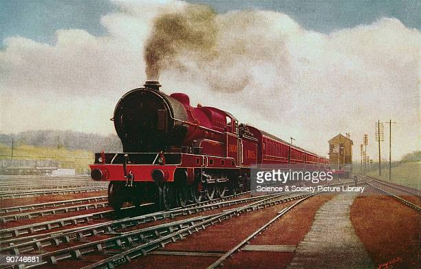 Painting by F Moore reproduced in 'The Railway Magazine' with the inscription 'Glasgow portion of midday 'Royal Scot' express near Tring LMS...