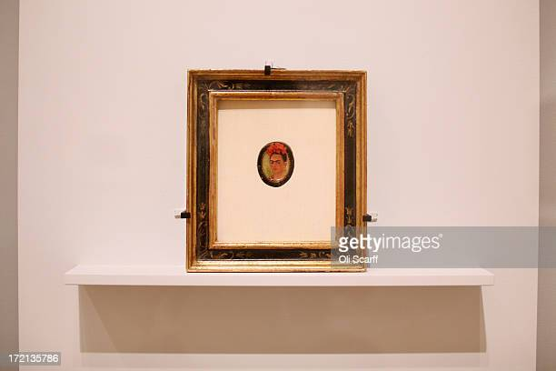 A painting by Frida Kahlo entitled 'Selfportrait' from 1938 in the Royal Academy of Arts on July 2 2013 in London England The painting features in...