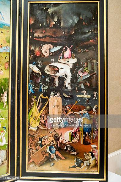 Painting by Hieronymus Bosch The Garden of Earthly Delights in the Museum de Prado Prado Museum Madrid Spain