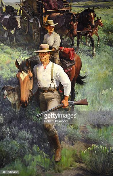 A 1969 painting by John Clymer titled 'The Homesteaders' is among the Western paintings on exhibit at the Buffalo Bill Center of the West in Cody...