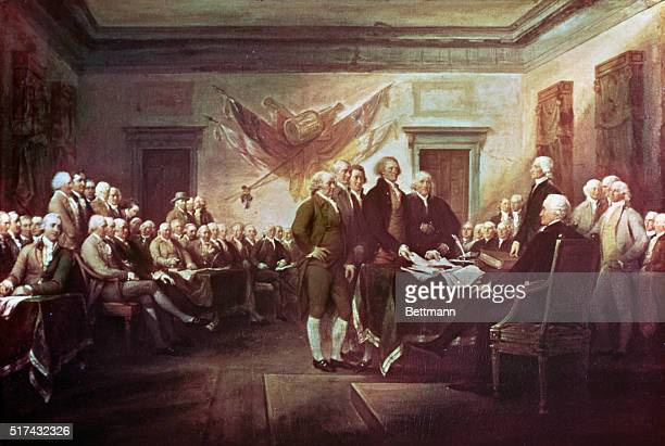 Painting by John Trumbull depicting the signing of the Declaration of Independence
