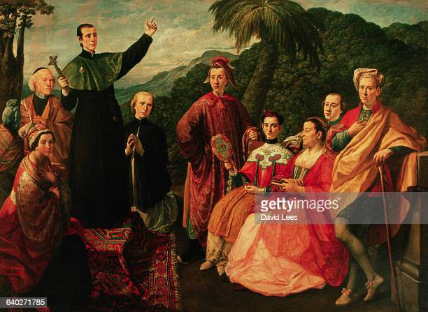 A painting by Marco Benefial of a Jesuit and his family | Located in Palazzo Barberini