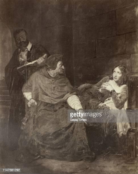 Painting by Paul Delaroche: Joan of Arc, Jeanne d'Arc malade est interrogee dans sa prison, Robert Jefferson Bingham, Goupil & Cie, 1858