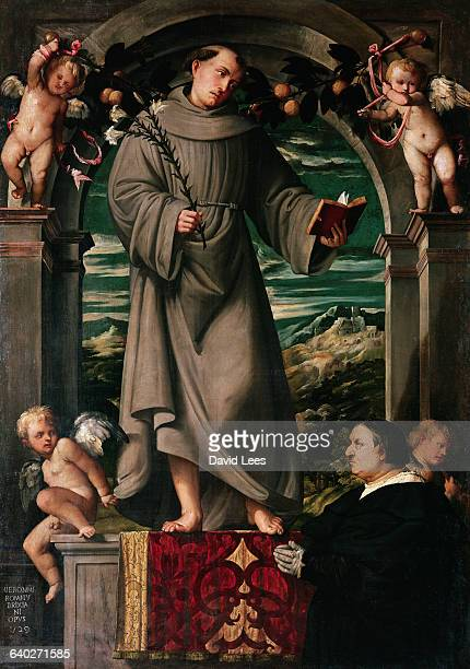 Painting by Romanino of Saint Antonio da Padova | Located in Italy