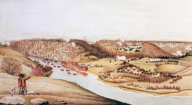 Painting by Thomas Davies depicting the Attack on Fort...