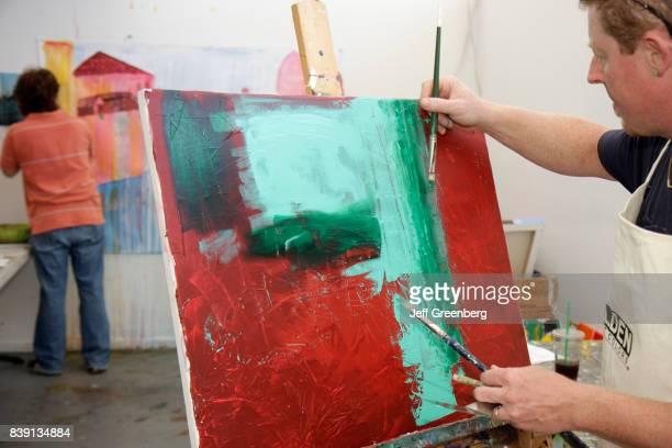A painting class at Art Center South Florida