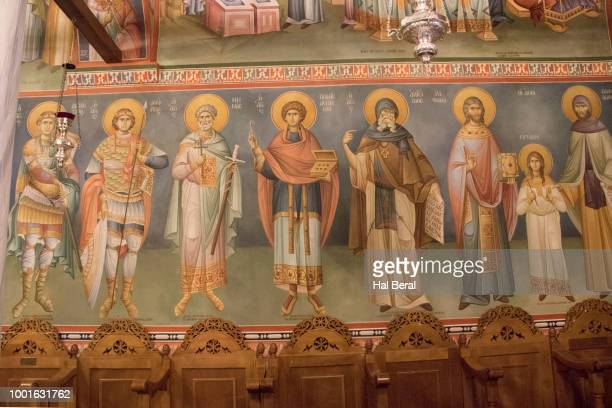 Painting decorate the interior of the Ayios Nikolaos Cathedral