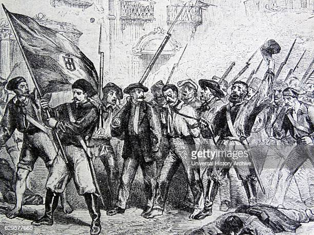 Painting depicting a scene from the Sicilian revolution of 1848