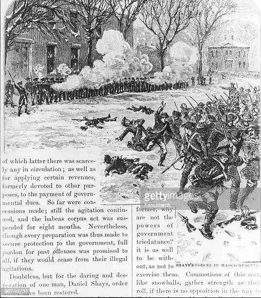 Painting depicting 'Battle of Lexington,' the, initial skirmishes between British soldiers and American colonists that marked the beginning of the...