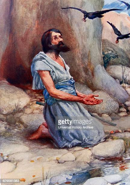 Painting depicting Elijah and the Ravens Elijah was a prophet and a wonderworker in the northern kingdom of Israel