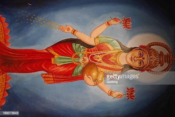 Painting depicting goddess Lakshmi