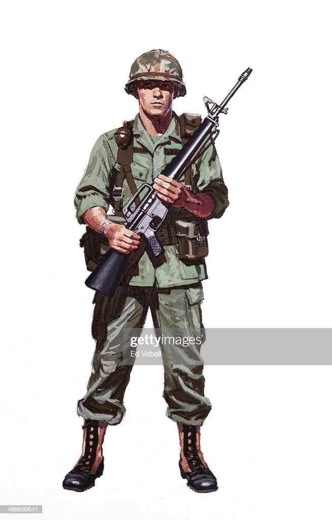 A painting depicting military uniforms worn and weapons ... - photo#49