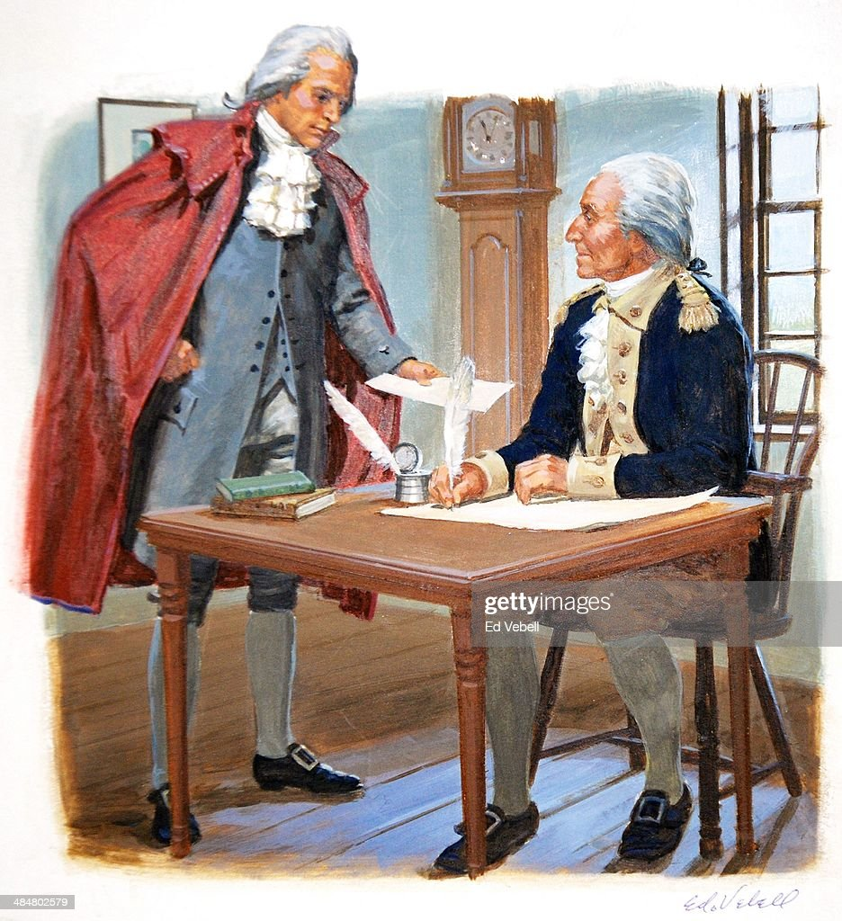 Washington And Hamilton : News Photo