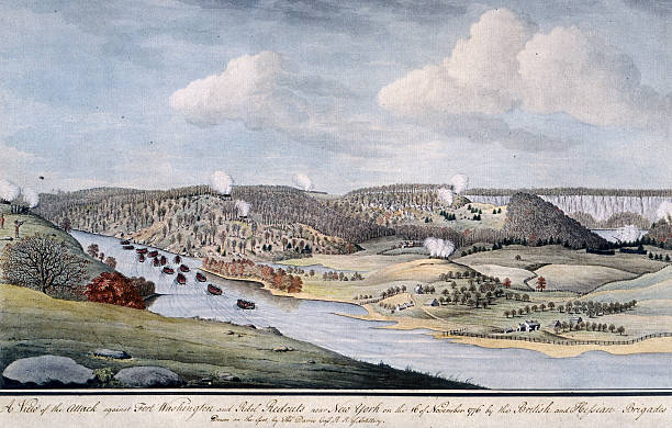 Painting depicting the attack led by Charles Cornwallis...