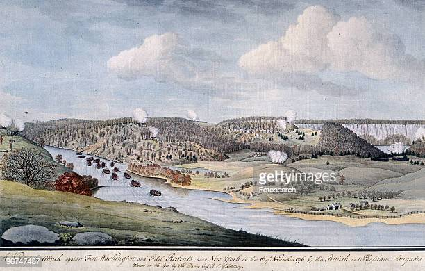 Painting depicting the attack led by Charles Cornwallis on Fort Lee New Jersey Cornwallis had been given an independent command in which he captured...