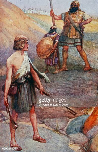 Painting depicting the David and Goliath Goliath was a giant Philistine warrior defeated by the young David the future king of Israel in the Bible's...