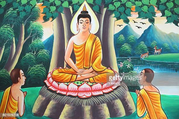 Painting depicting the life story of Shakyamuni Buddha Kasi Laos