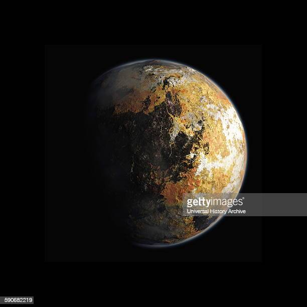 Painting depicting the planet Pluto Dated 2015