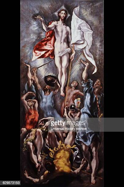 Painting depicting the Resurrection of Jesus Christ by El Greco a painter sculptor and architect of the Spanish Renaissance Dated 17th Century