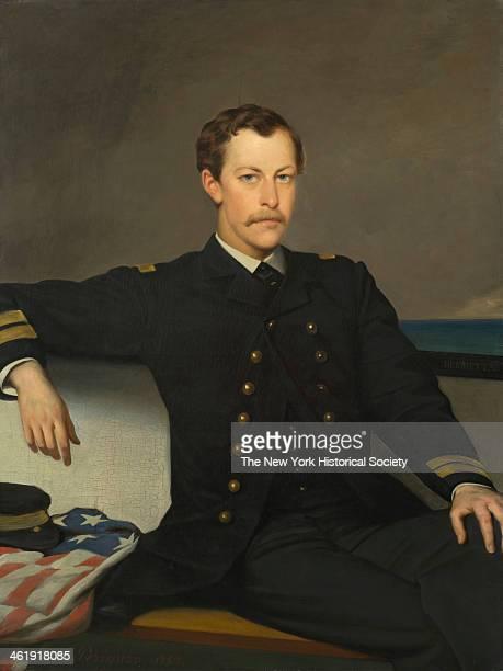 Painting depicts a portrait of James Gordon Bennett Jr 1867