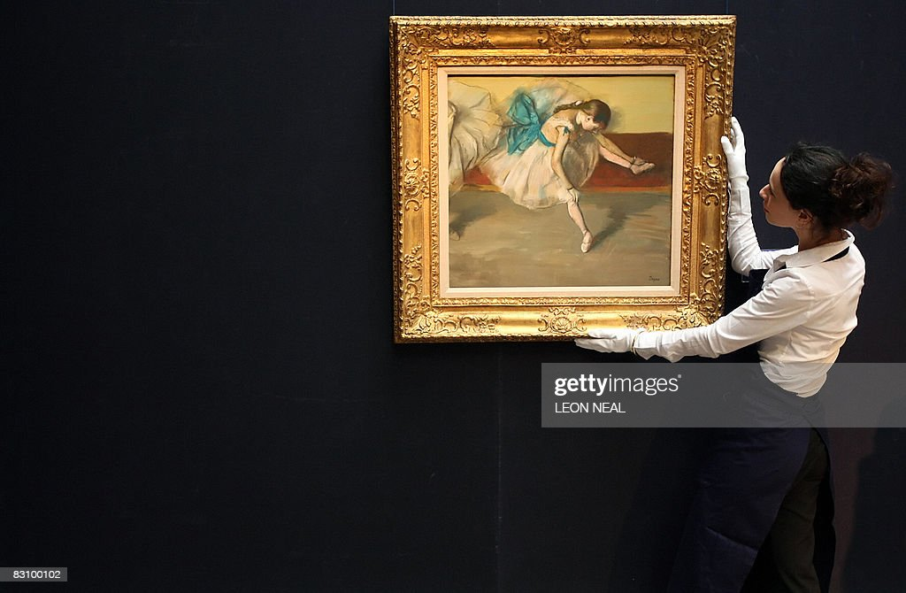 "A painting entitled ""Danseuse au repos"" : News Photo"
