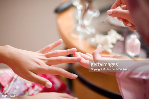 painting fingernails - manicure stock pictures, royalty-free photos & images