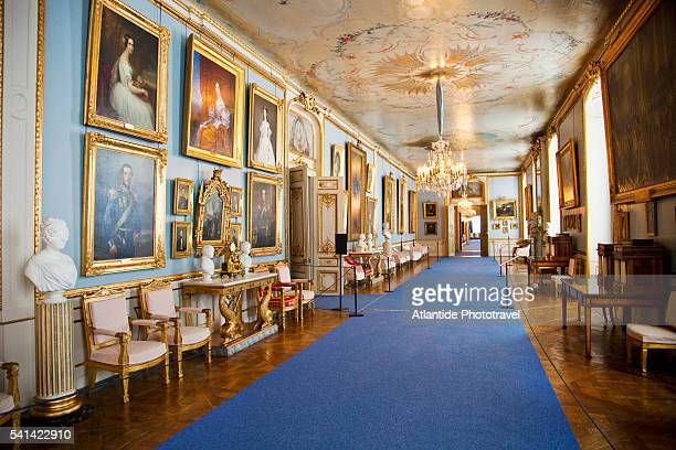 painting gallery in the royal palace, stockholm, sweden - the stockholm palace stock pictures, royalty-free photos & images
