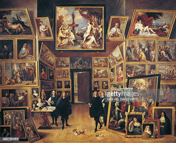 Painting gallery of Archduke Leopold Wilhelm in Brussels ca 1647 painting by David Teniers II oil on canvas8x1304 cm