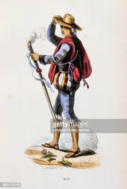 painting in Gouache depicting an South American farmer 1843