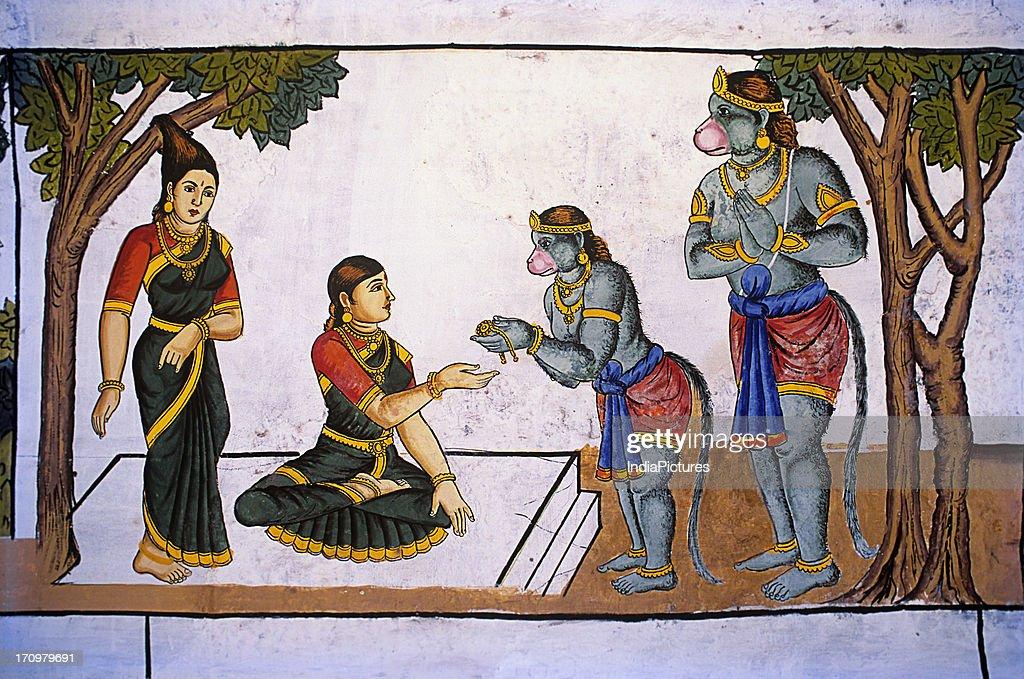 Painting in Ramaswamy Temple, Kumbakonam, Tamil Nadu, India. News Photo -  Getty Images
