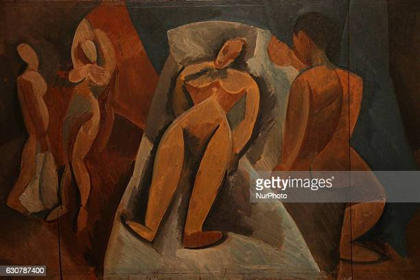 Painting Nu couché avec personnages by Pablo Picasso during Pablo Picasso exhibition held in Rio de Janeiro File image produced on October 14 2016 in...